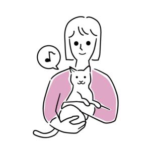 正しい猫の抱き方イラスト