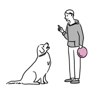 フリスビー犬イラスト